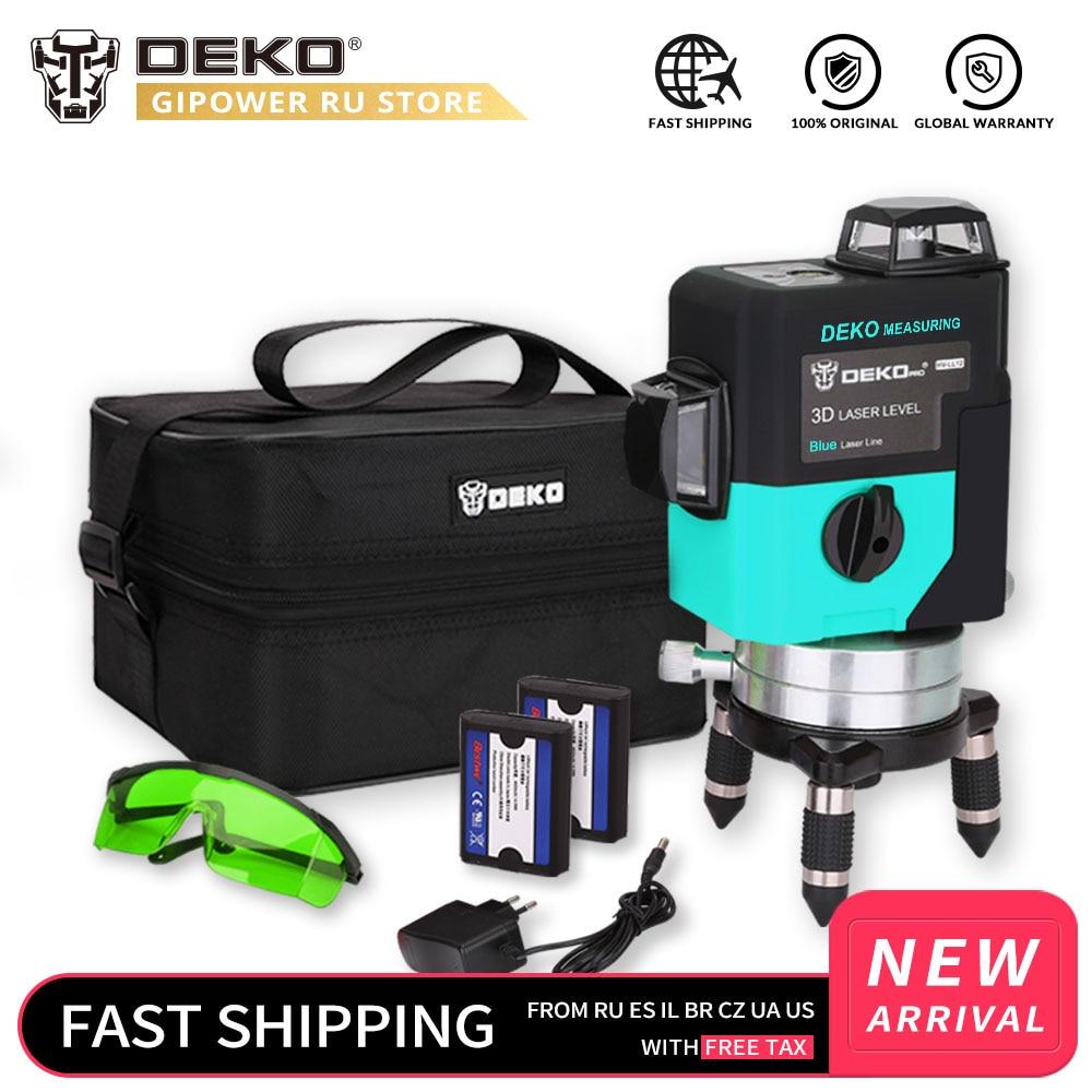 DEKO LL12 HVG 12 Lines Laser Level Self Leveling 360 degrees Horizontal Vertical Cross Super Powerful