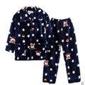 Pijama para niños Para Niños Niñas pijamas de Los Cabritos Fijaron Largo de Dibujos Animados Suave Caliente del Invierno Niñas ropa de dormir niños pijamas de manga 1-13 y
