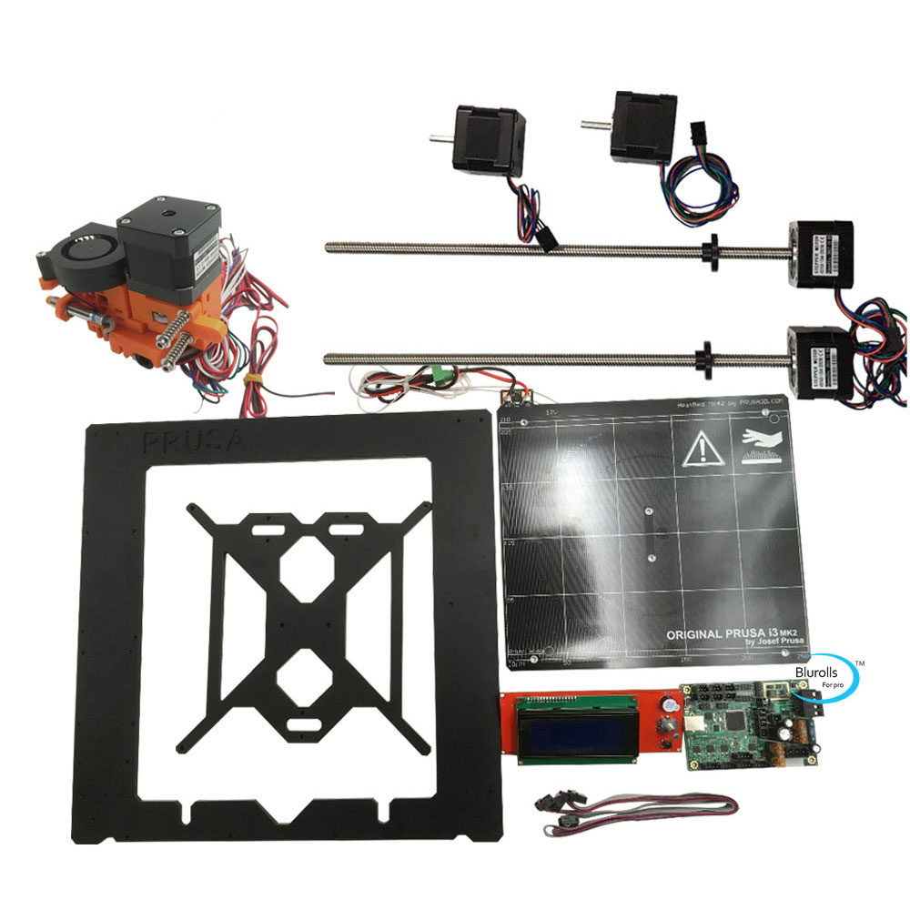 Reliable 3d Printer Prusa I3 Mk2 Kit With Metal Frame Mini-rambo 1.3a Mainboard 2004 Lcd Aluminum Heated Bed Hot End Stepper Motors Supplement The Vital Energy And Nourish Yin Computer & Office