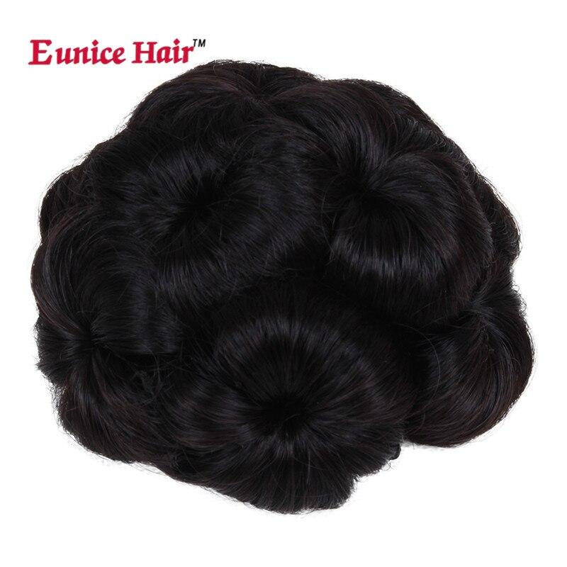 Юнис синтетического вьющихся Chignon #2/#4/#33/99j парики для Для женщин упругие Scrunchie расширения волосы хвост пучки волос