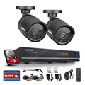 SANNCE HD 1080N 8CH home CCTV camera security system 1.0MP 720P 2PCS Video Surveillance Camera IR cut outdoor with 1TB hard disk