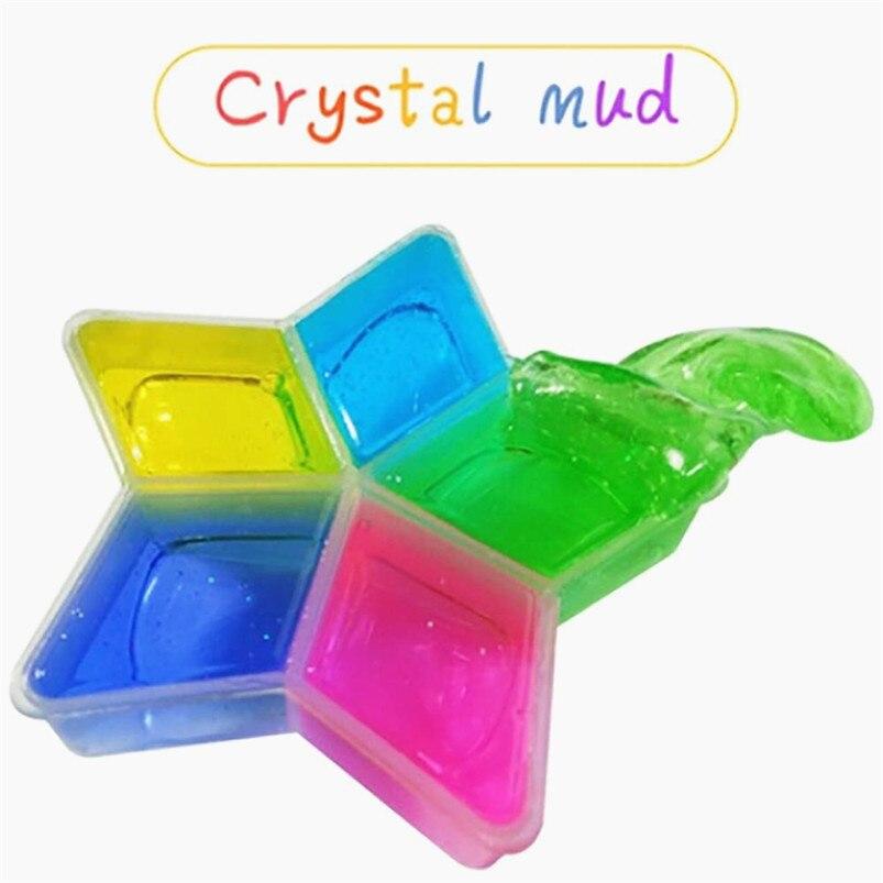 Handmade DIY Soft Polymer Modelling Clay Slime DIY Crystal Mud Play Transparent Magic Plasticine Kid Toys best gift