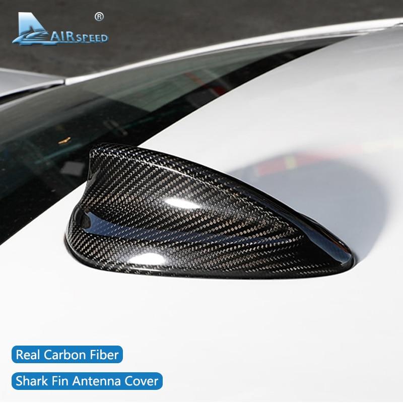 AIRSPEED For BMW E90 E92 F20 F30 F10 F34 G30 G20 F15 F16 F21 F45 F56 F01 Accessories Carbon Fiber Shark Fin Antenna Cover Trim
