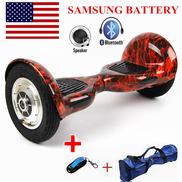Self Balancing Scooters Hoverboard 10 inch Tires Bluetooth Electric Scooter Gyroscope Two Wheels France Stock with Bag цена