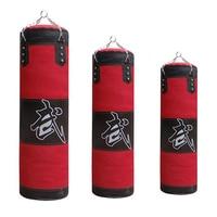 Feliz Navidad! 60/80/100/120cm Engrosado Lona Kick Boxing Saco de Boxeo Bolsa de Arena Entrenamiento Fitness Vacío Punching Bag Sandbag