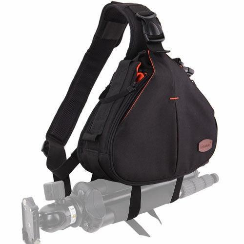 EIRMAI Shoulder bags DSLR camera bags Small figure large capacity fast machine is black 100% nylon SS16