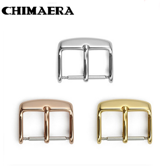 ea17f06806d Wholesale10 12 14 16 18 20mm Watch Band Buckle 316L Inoxidável aço Polido  Tang Buckle Clasp