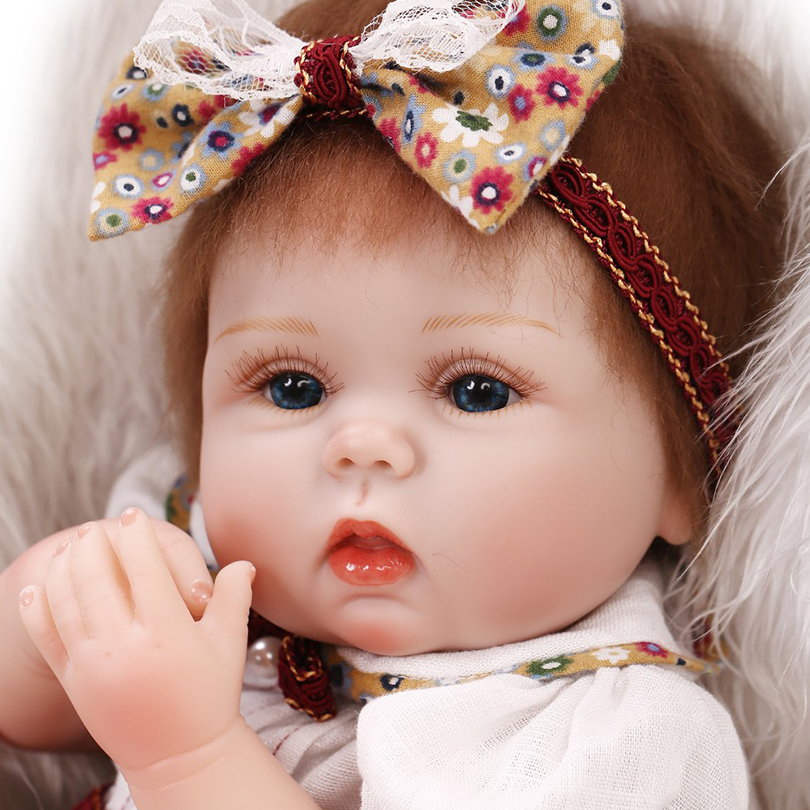 ФОТО New Arrival Reborn Baby Dolls Toys Lifelike Silicon Reborn Babies Gift Girl Play House Toys Princess Doll Brinquedos