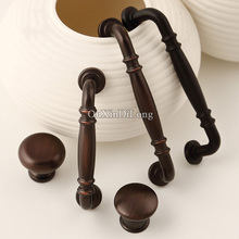 New-style 10PCS European Antique Kitchen Door Furniture Handles Retro Cupboard Drawer Wardrobe Cabinet Pulls and Knobs