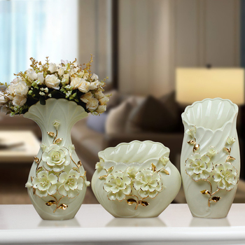 European Plated Vase Decoration Pottery Jar Porcelain Vase Container Flower Holder Flower Vase Ceramic Golden Vase Gilt Vase
