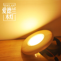 LED lamp, wooden ceiling lamp, solid wood lamp, living room background wall, 3W spotlight.