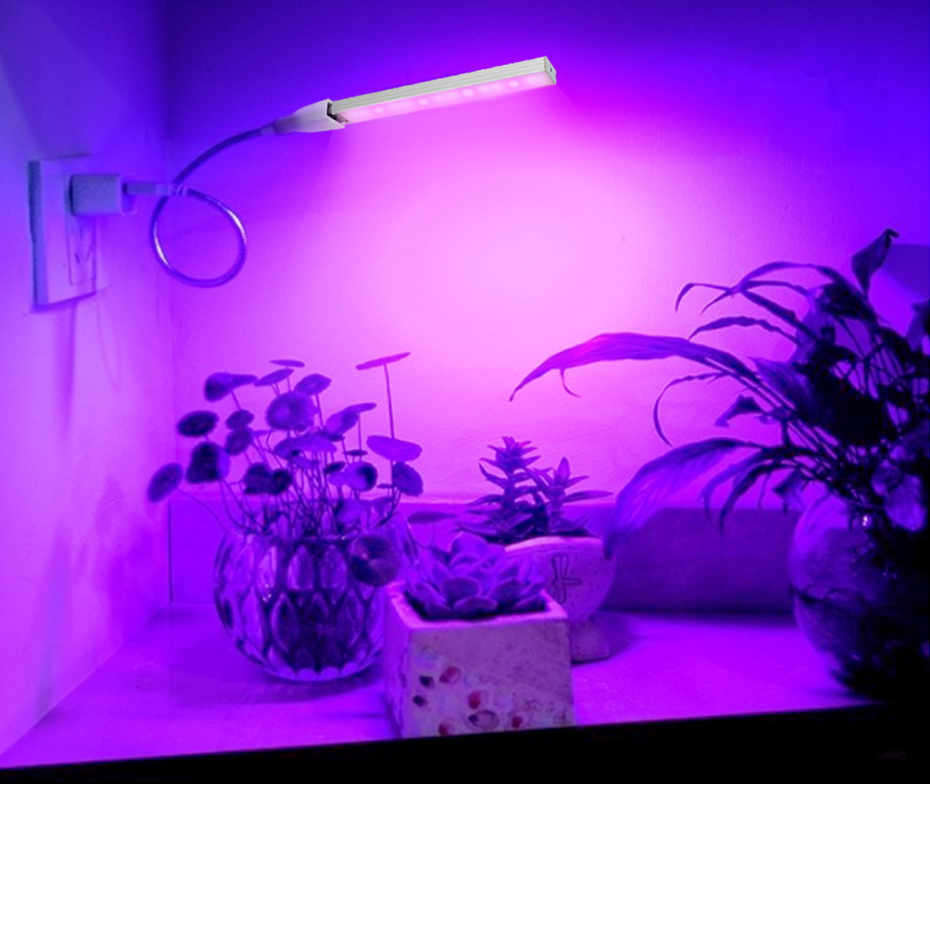 USB Led Grow Lamp For Plants Full Spectrum Led Grow Light Aluminum High Quality For Vegetation Plants Flowers Indoor Lighting