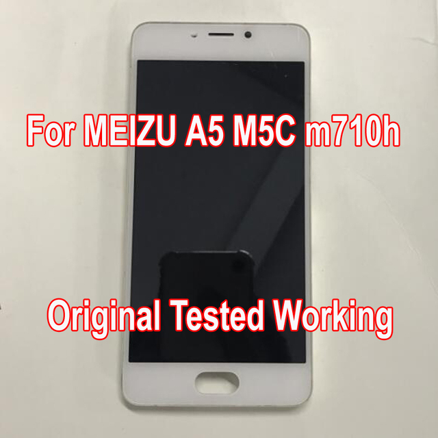 Original Tested Working Used For MEIZU A5 5C M5C m710h LCD Display Touch Screen Panel Digitizer With Frame Assembly Sensor