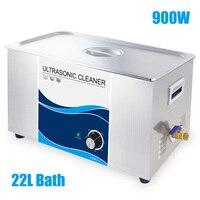 Ультразвуковая ванна 22L Cleaner 900 Вт промышленные стиральные устройства таймера Нержавеющаясталь основа масло пыли удаление пятен машины