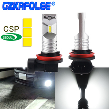 gzkafolee 2PCS H8 LED H11 LED H9 9006 HB4 9005 HB3 H10 H16JP 9145 9140 Car Fog lamp Bulbs CSP Y19 3600LM 12V 24V