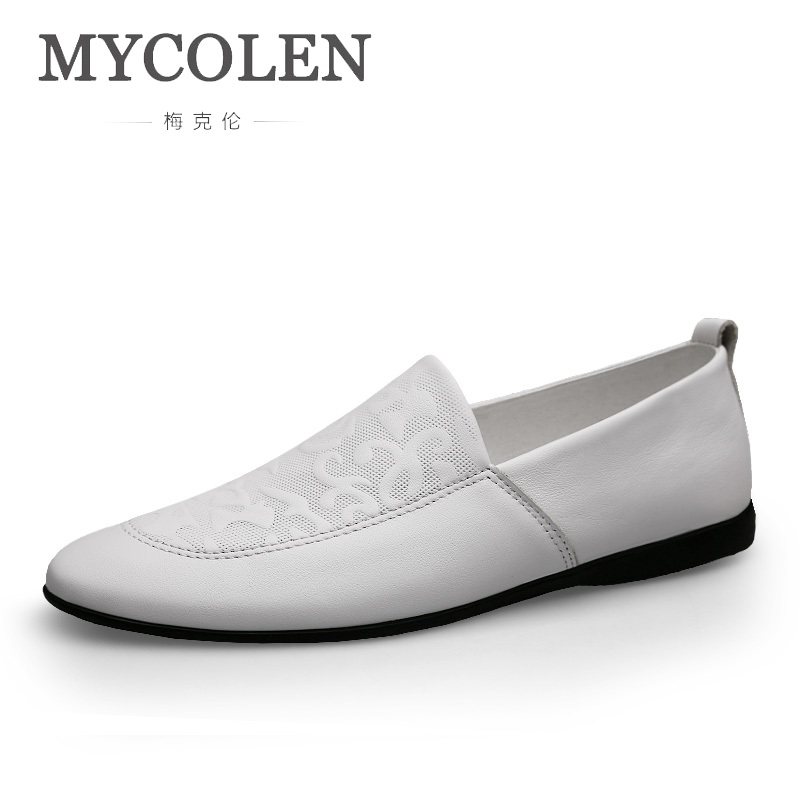 MYCOLEN 2018 Brand Fashion Spring/Autumn Style Soft Moccasins Men Loafers High Quality Genuine Shoes Men Flats Driving ShoesMYCOLEN 2018 Brand Fashion Spring/Autumn Style Soft Moccasins Men Loafers High Quality Genuine Shoes Men Flats Driving Shoes