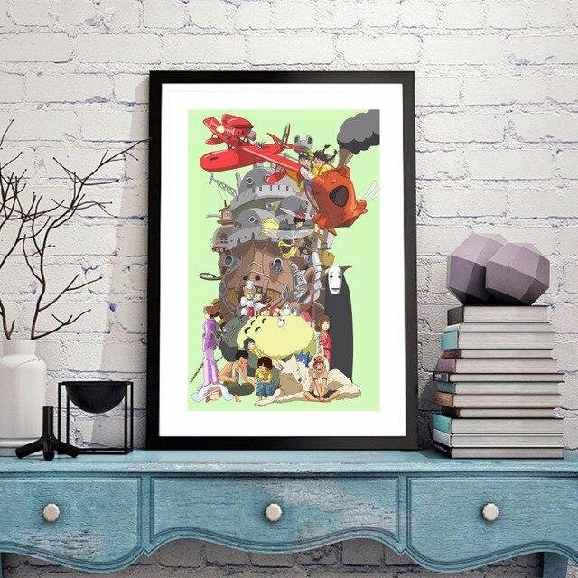 Hayao Miyazaki Anime Toile Art Print Affiche De Peinture Mur Photos