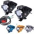 2 unids U5 motocicleta led headlight 125 w 3000lm Del Cree Chip de moto antiniebla faros led Spot Cabeza de Conducción de Moto lámpara