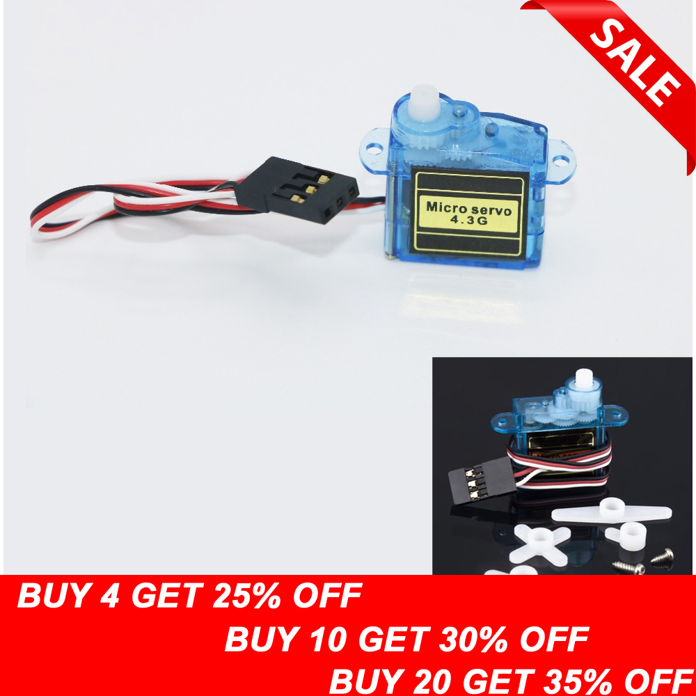 1pcs 4.3g Mini Micro Servo untuk RC Airplane Helicopter