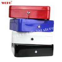 WOFO 4 Colors Safe Large Size Money Box Coin Jewelry Diamonds Piggy Bank Key Lock Metal Saving Cash Box Storage Box 30*24*9CM