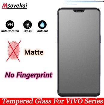 Перейти на Алиэкспресс и купить Закаленное стекло без отпечатков пальцев для VIVO V15 Pro V11 Pro S1 V11i Y17 Y12 Y15 Z1 Pro Y91 3 5 Y97 Y85 Y71 Y79 матовая защитная пленка для экрана
