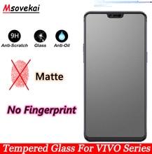 No Fingerprint Tempered Glass For VIVO V15 Pro V11 Pro S1 V11i Y17 Y12 Y15 Z1 Pro Y91 3 5 Y97 Y85 Y71 Y79 Matte Screen Protector