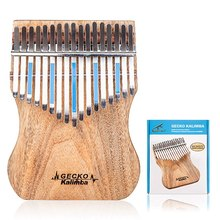 Gecko 17 Key Kalimba Thumb Piano Finger Percussion Music Camphor Wood Musical Instrument (K17Cap)(China)