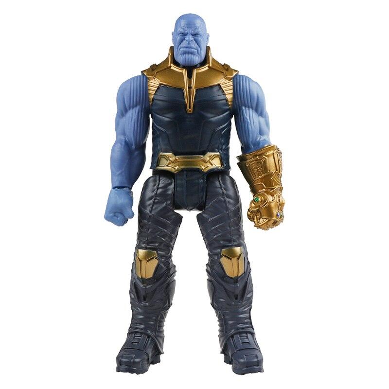 30 см Marvel Мстители игрушки танос Халк Бастер человек паук Железный человек Капитан Америка Тор Росомаха Черная пантера фигурка куклы - Цвет: thanos no box