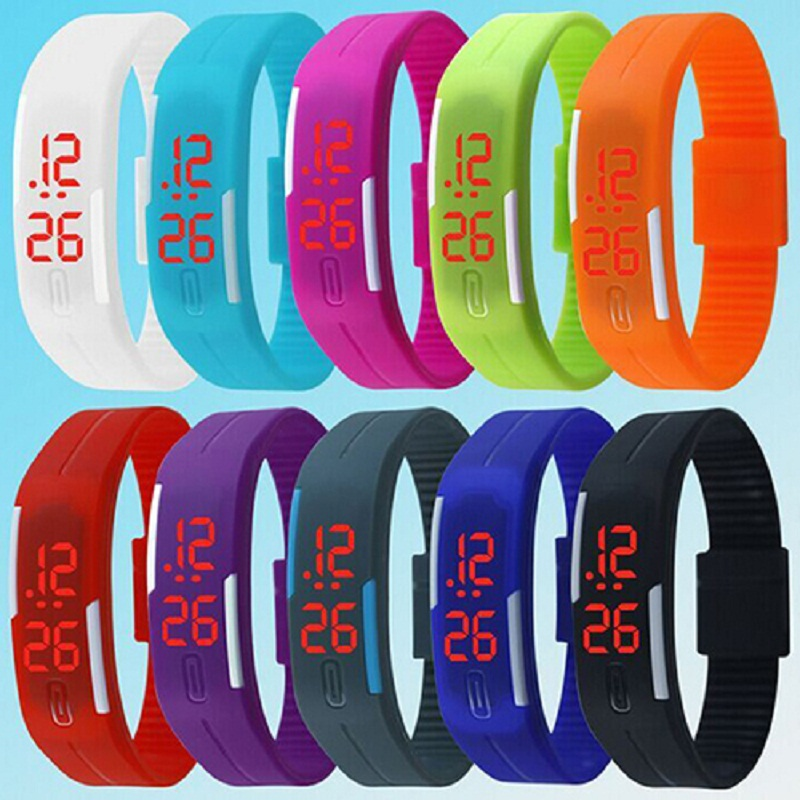 2015 New Charming Wristwatches Unisex Men's Women's Silicone Red LED Sports Bracelet Touch Digital Wrist Watch 5V4N 8JZO nueva girl sports digital bracelet men s women s silicone red led sports bracelet touch watch digital wrist watch