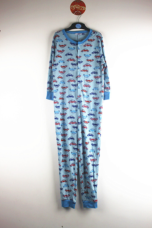 The blanket sleeper or footie pajama (also known by many other synonyms and trade names) is a type of especially warm sleeping garment worn primarily during the winter in the United States and Canada. Mass-produced blanket sleepers for adult men are more uncommon.