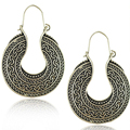 Top Quality Tibetan Silver Carved Moon Vintage Ethnic Drop Dangle Earrings Retail Jewelry Statement Jewellery Gift For Women Hot