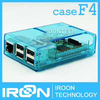 case F4: Raspberry PI 3 model B Transparent Blue Case Cover Shell Enclosure Box for Raspberry PI 2 Model B and Model B+