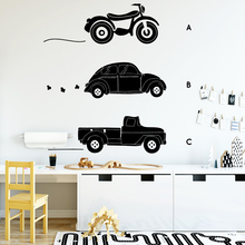 цена DIY Art Transportation Vehicle Wall Art Decal Decoration Fashion Sticker Pvc Wall Decals Wall Decal Home Accessories