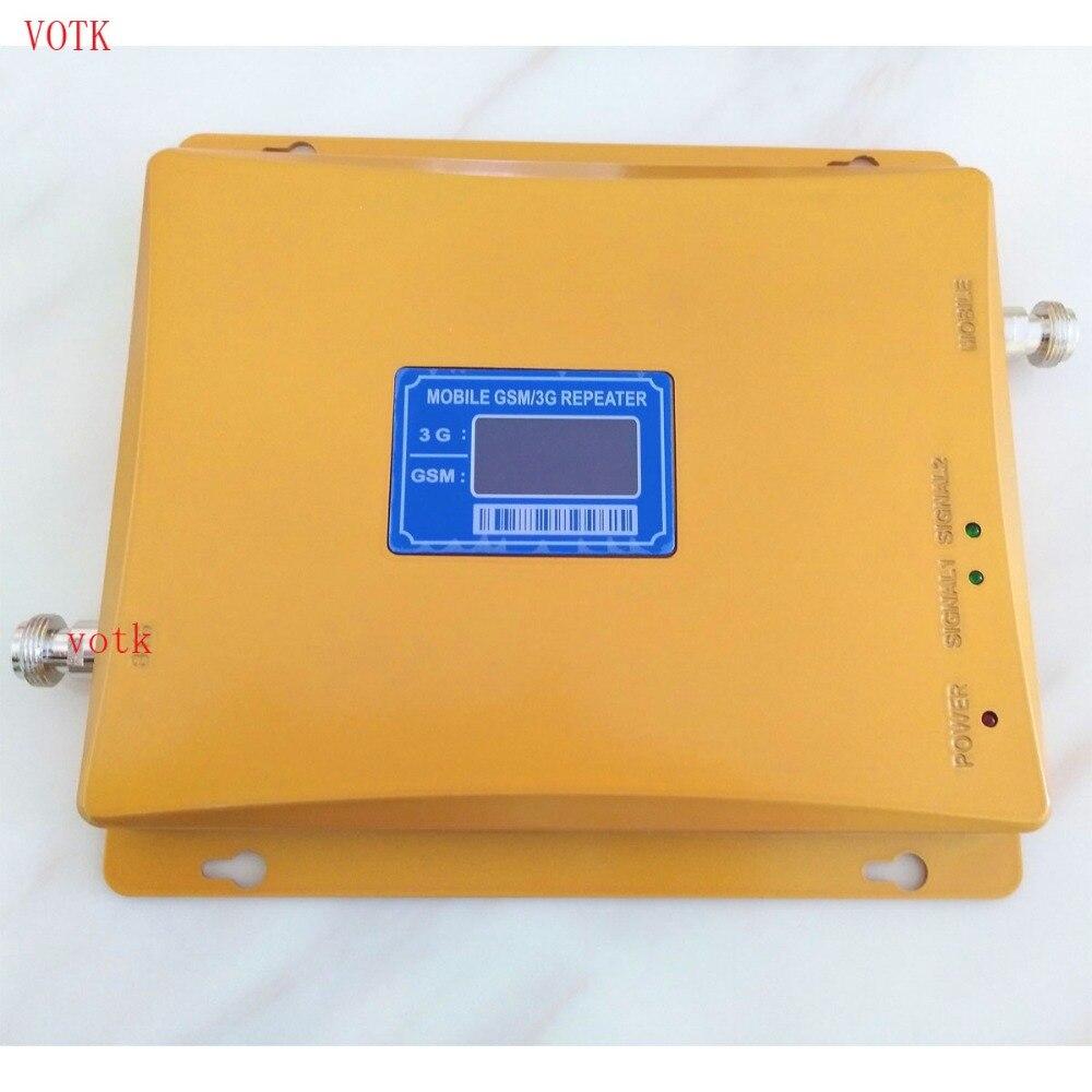 Amplificateur de signal de téléphone portable 2g 3G, répéteur de signal GSM 3g double bande 900 mhz amplificateur de signal GSM 2100 mhz amplificateur de signal mobile 3g