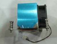 2U side blowing pure copper base aluminum chip CPU server cooler 115X / 1366/2011