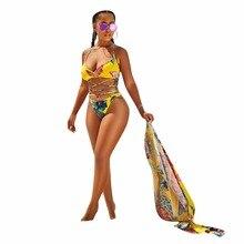 SUWA European Style Jumpsuit Skinny Print Sexy Bodysuit Overalls Beach Bohemian Short