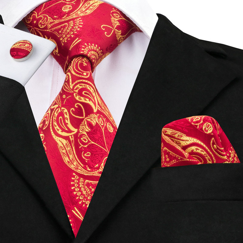 39c03694d2 C 367 Red Paisley Ties for Men Hot Selling Silk Men Tie Set Neck Tie Pocket  Square Gravatas Cufflinks 8.5 Mens Ties for Men Gift-in Men's Ties ...