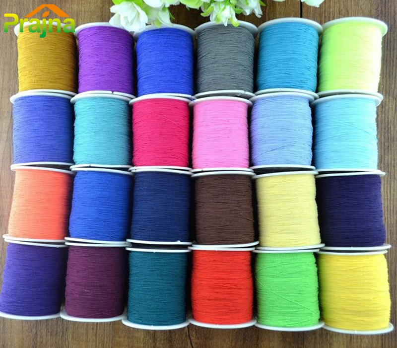 200Meters Dmc Yarn knitting machine Elastic Thread Line Nylon Rubber Stretchy String Bracelets Necklace Craft Waxed Threads Z1