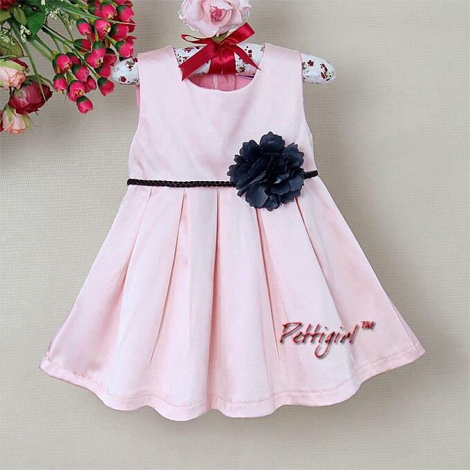 Designer Little Baby Clothes Princess Girl Pink Dress