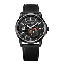 ФОТО 2017 top luxury brandd mige skeleton mechan black  watchface leather strap round sport waterresistant automatic mans watch