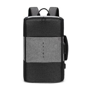 Image 5 - BAIBU Ba Lô Cho Nam Giới Chống trộm Đa Chức Năng Không Thấm Nước 17 inch USB Máy Tính Xách Tay Ba Lô Túi Du Lịch trong Nam Hành Lý Ba Lô MỚI