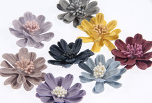 Yundfly 5pcs Vintage Solid Fabric Flowers Bud Baby Wreath Flower Girls Garland Headband Floral DIY Chidlren Hair Accessories