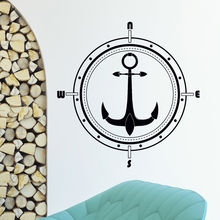 Wind Rose Anchor Compass Wall Sticker Art Home Removable Travel Geography Decoration Vinyl Sea Style Poster W436