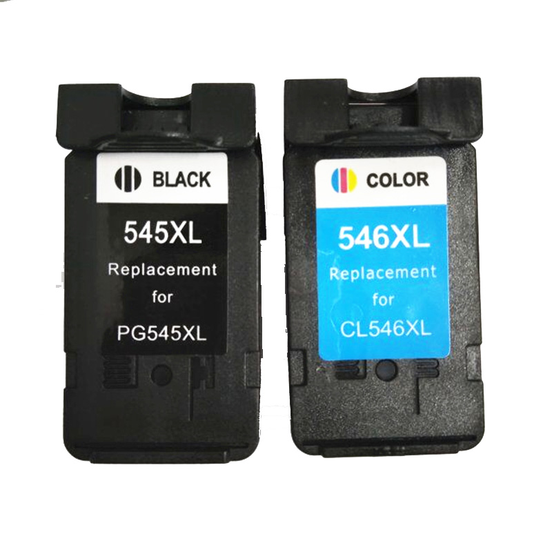 vilaxh 2pcs PG545 CL546 Black / Tri-color Ink Cartridge for <font><b>Canon</b></font> 545 546 for Pixma IP2850 MX495 MG2450 MG2550 MG2950 NS28 image