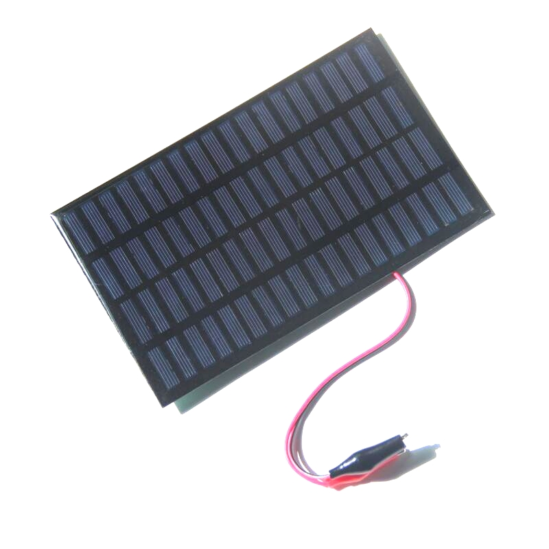 BUHESHUI 18V 2.5W Polycrystalline Solar Panel Module Solar Cell+Crocodile Clip DIY Solar System For 12V Battery Epoxy194x120MM