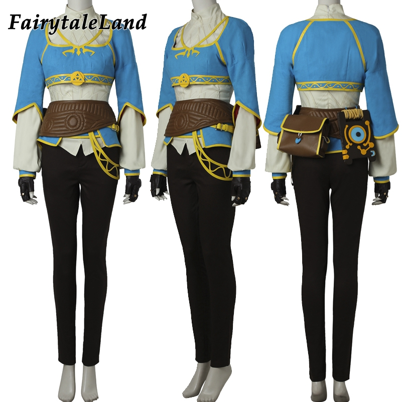 The Legend of Zelda Breath of the Wild Princess Zelda Cosplay Costume Hot Game Halloween fancy costume women custom made