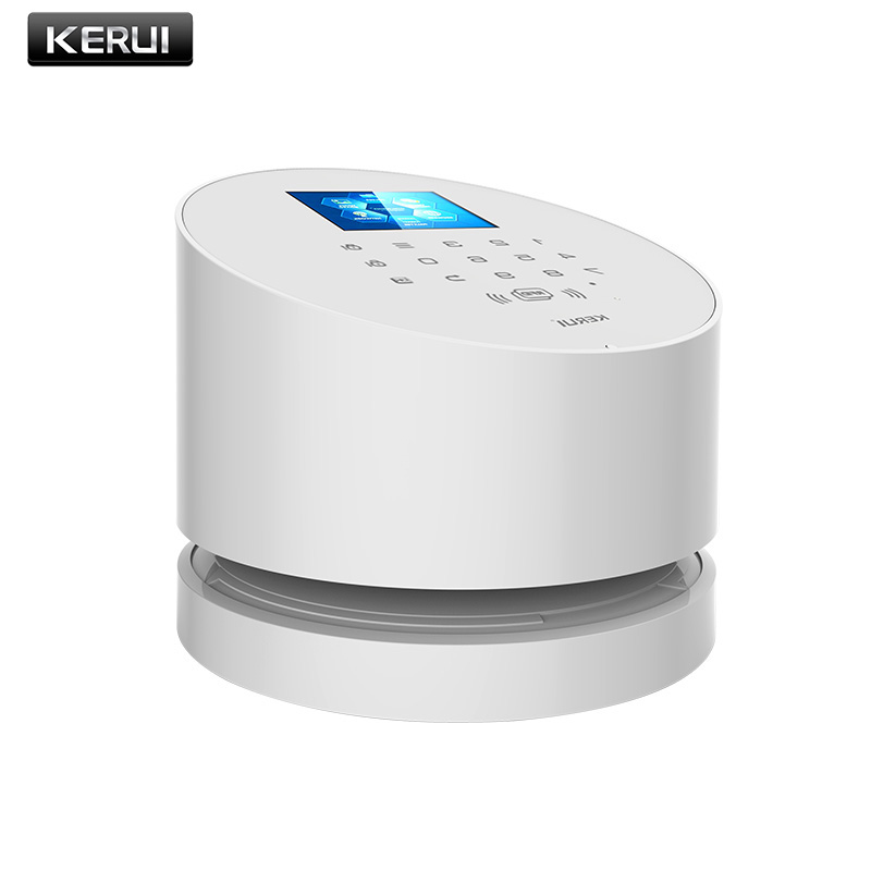 KERUI W2 WiFi GSM home burglar security alarm system IOS Android APP control used with IP camera PIR detector door sensor quad band gsm smart home burglar security alarm system w detector sensor remote control