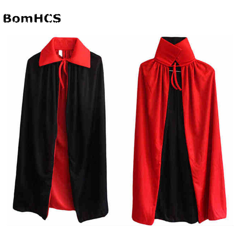 BomHCS Halloween witches collar black and red cape cloak vampire cape worn on both sides of the double cloak 1.4m