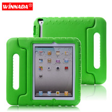 Case for ipad 2 3 4 hand-held portable Shock Proof EVA full body cover Handle stand Kids Safe Silicone para shell coque housing portable kids steering wheel for apple ipad mini 1 2 3 eva drop resistance washable stand holder hand held protective case gifts