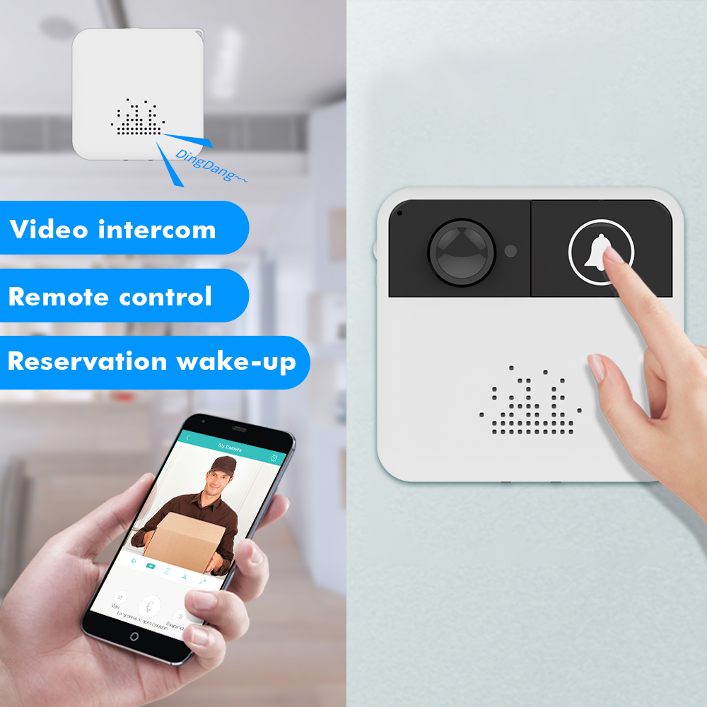 SDETER Wireless Intercom Door Bell Wifi Doorbell Video Camera Two-Way Audio Night Vision APP Control for iOS Android Phones new wifi video intercom wifi wireless video door phones app can be run in android and ios devices dhl